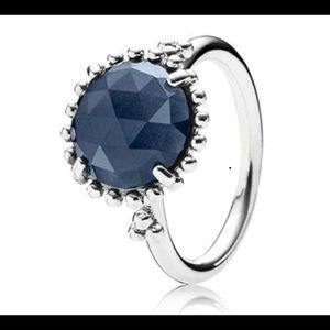 Size 6.5 midnight blue Pandora ring.